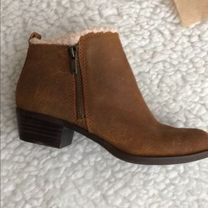 NEW! Women's Lucky Brand Basel Sherpa  ankle boots